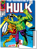 Marvel Comics Retro: The Incredible Hulk Comic Book Cover No103  with the Space Parasite