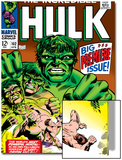 Marvel Comics Retro: The Incredible Hulk Comic Book Cover No102  Big Premiere Issue