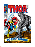Marvel Comics Retro: The Mighty Thor Comic Book Cover No151 --To Rise Again!