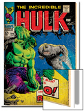 Marvel Comics Retro: The Incredible Hulk Comic Book Cover No104  with the Rhino (aged)