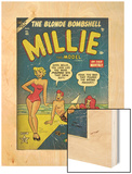 Marvel Comics Retro: Millie the Model Comic Book Cover No45  in Bathing Suit  at the Beach (aged)