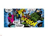 Marvel Comics Retro: Luke Cage  Hero for Hire Comic Panel  Kicking and Fighting