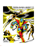 Marvel Comics Retro: X-Men Comic Panel  Colossus  Storm  Charging and Flying
