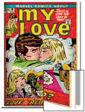 Marvel Comics Retro: My Love Comic Book Cover No18  Kissing  Love on the Rebound (aged)