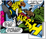 Marvel Comics Retro: Luke Cage  Hero for Hire Comic Panel  Kicking and Fighting