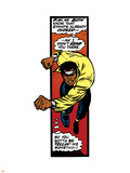 Marvel Comics Retro: Luke Cage  Hero for Hire Comic Panel  Charging