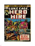 Marvel Comics Retro: Luke Cage  Hero for Hire Comic Book Cover No5  Black Mariah! (aged)