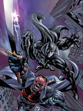 Black Panther No12 Cover: Black Panther and Blade