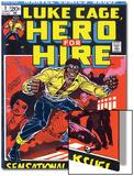 Marvel Comics Retro: Luke Cage  Hero for Hire Comic Book Cover No1  Origin