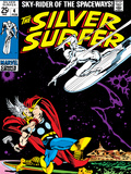 Marvel Comics Retro: Silver Surfer Comic Book Cover No4  Thor