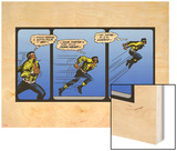 Marvel Comics Retro: Luke Cage  Hero for Hire Comic Panel  Running and Jumping