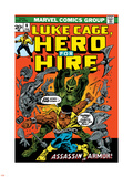 Marvel Comics Retro: Luke Cage  Hero for Hire Comic Book Cover No6  Assassin in Armor!