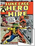 Marvel Comics Retro: Luke Cage  Hero for Hire Comic Book Cover No14  Fighting Big Ben