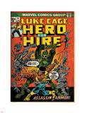 Marvel Comics Retro: Luke Cage  Hero for Hire Comic Book Cover No6  Assassin in Armor! (aged)
