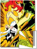 Marvel Comics Retro: X-Men Comic Panel  Phoenix  Emma Frost  Fighting