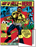 Marvel Comics Retro: Luke Cage  Hero for Hire Comic Panel  Screaming