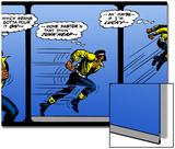 Marvel Comics Retro: Luke Cage  Hero for Hire Comic Panel  Running and Jumping