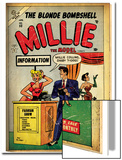 Marvel Comics Retro: Millie the Model Comic Book Cover No53  Fashion Show Information Booth (aged)