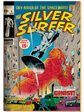 Marvel Comics Retro: Silver Surfer Comic Book Cover No8  the Ghost (aged)