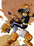 Ultimate Fantastic Four/ X-Men No1 Part 2 Cover: Wolverine and Thing