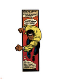 Marvel Comics Retro: Luke Cage  Hero for Hire Comic Panel  Charging (aged)