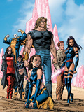 New Exiles No1 Group: Sabretooth  Psylocke and Cat Crouching
