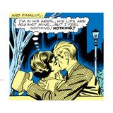 Marvel Comics Retro: Love Comic Panel  Kissing in the Park