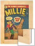 Marvel Comics Retro: Millie the Model Comic Book Cover No34  Getting on a Horse (aged)