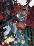 X-Men/Spider-Man No3 Cover: Spider-Man  Cyclops  Storm and Wolverine