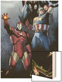 Siege No1 Cover: Iron Man  Captain America and Thor