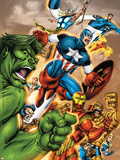 Onslaught Reborn No5 Cover: Captain America  Hulk and Iron Man