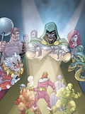 Doctor Doom And The Masters Of Evil No2 Cover: Dr Doom  Princess Python  Clown and Baron Zemo