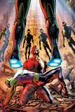 Age of Ultron 3 Cover: Cage  Luke  She-Hulk  Ultron