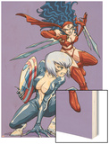 New Mangaverse No3 Cover: Black Cat and Elektra