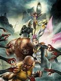 Thunderbolts No157 Cover: Luke Cage  Songbird  Juggernaut  Ghost  Moonstone  and Satana