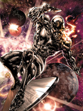 Silver Surfer No2: Silver Surfer Riding His Silver Surf Space