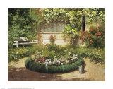 Sunlit Flower Garden
