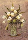 White Tulips in Crystal