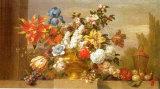 Jarron de Bronce con Flores