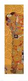 L'Accomplissement, frise dans l'hôtel Stoclet Fulfillment, Stoclet Frieze, vers 1909 (détail) Reproduction d'art par Gustav Klimt