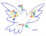 La colombe de la paix Reproduction d'art par Pablo Picasso