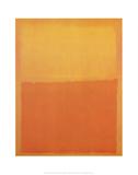 Orange et Jaune Reproduction d'art par Mark Rothko