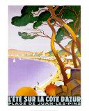 L'été sur la Côte d'Azur Reproduction d'art par Roger Broders