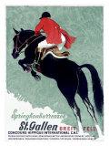 Horse Jumper Show Giclée