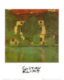 Etang au château Kammer sur l'Attersee Reproduction d'art par Gustav Klimt