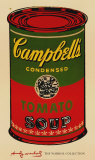 Campbell&#39;s Soup Can  1965 (Green and Red)