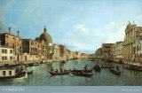 Venice: the Upper Reaches of the Grand Canal with S Simeone Piccolo  c1738