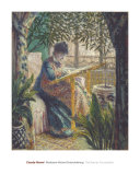 Madame Monet Embroidering  1875