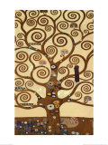 L'arbre de vie, 1909, fresque du Palais Stoclet Reproduction d'art par Gustav Klimt