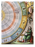Detail of Nicolaus Copernicus from an Engraving of the Copernican System by Andreas Cellarius